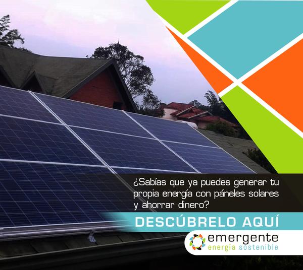 ¿Sabías que ya puedes generar tu propia energía con páneles solares y ahorrar dinero?